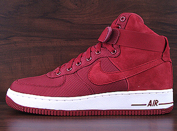 nike air force 1 high suede rouge