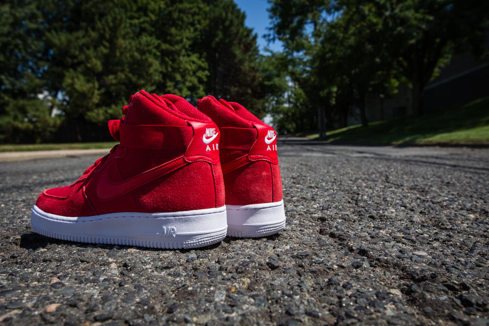huge discount 35423 be56c Nike Air Force 1 High Red Suede 315121-604 (4)