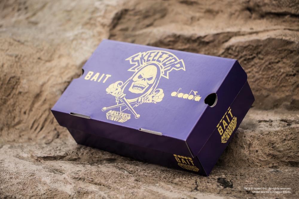 Skeletor Bait Diadora Shoes Box