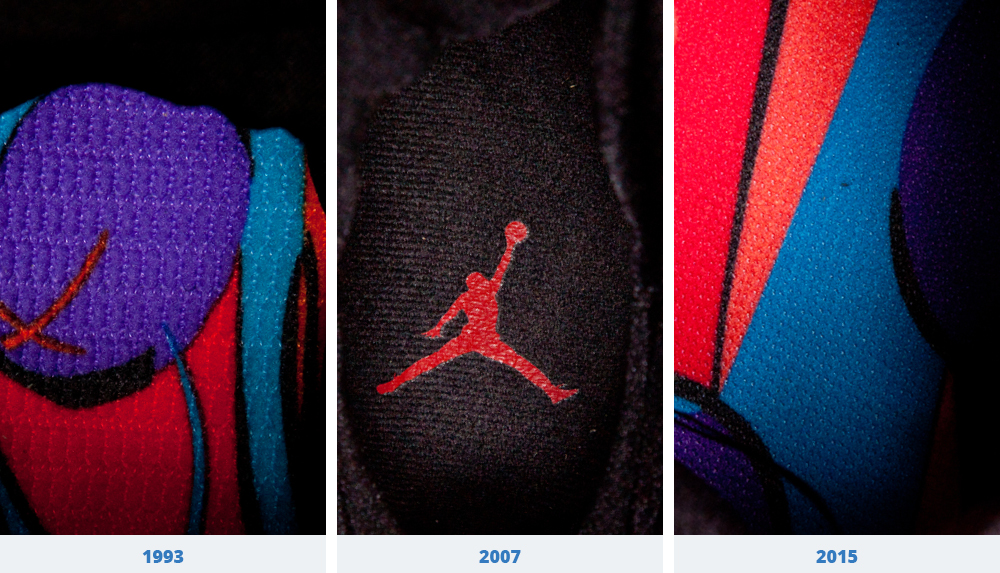 reputable site d5079 eb7e6 There s a different pattern on all three of the Air Jordan