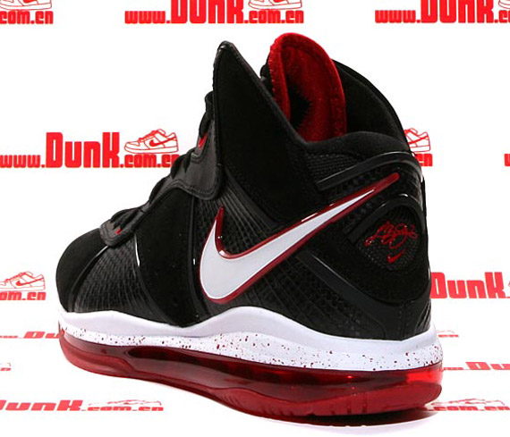 Lebron 8 Black White Sport Red Metallic Gold  07c1c0f7b