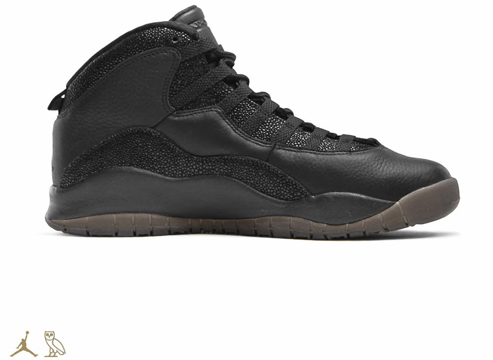 OVO x Air Jordan 10 Black (2)