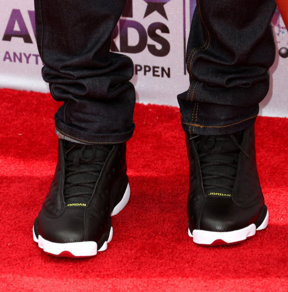 Chris Brown wearing Air Jordan XIII 13 Playoffs (2)