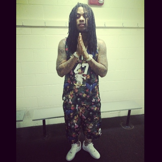Waka Flocka Flame wearing Nike Air Force 1 Low
