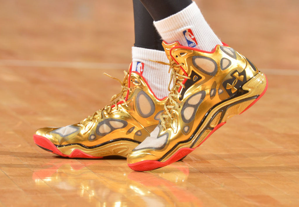 Raymond Felton wearing Under Armour Anatomix Spawn Awards Season PE