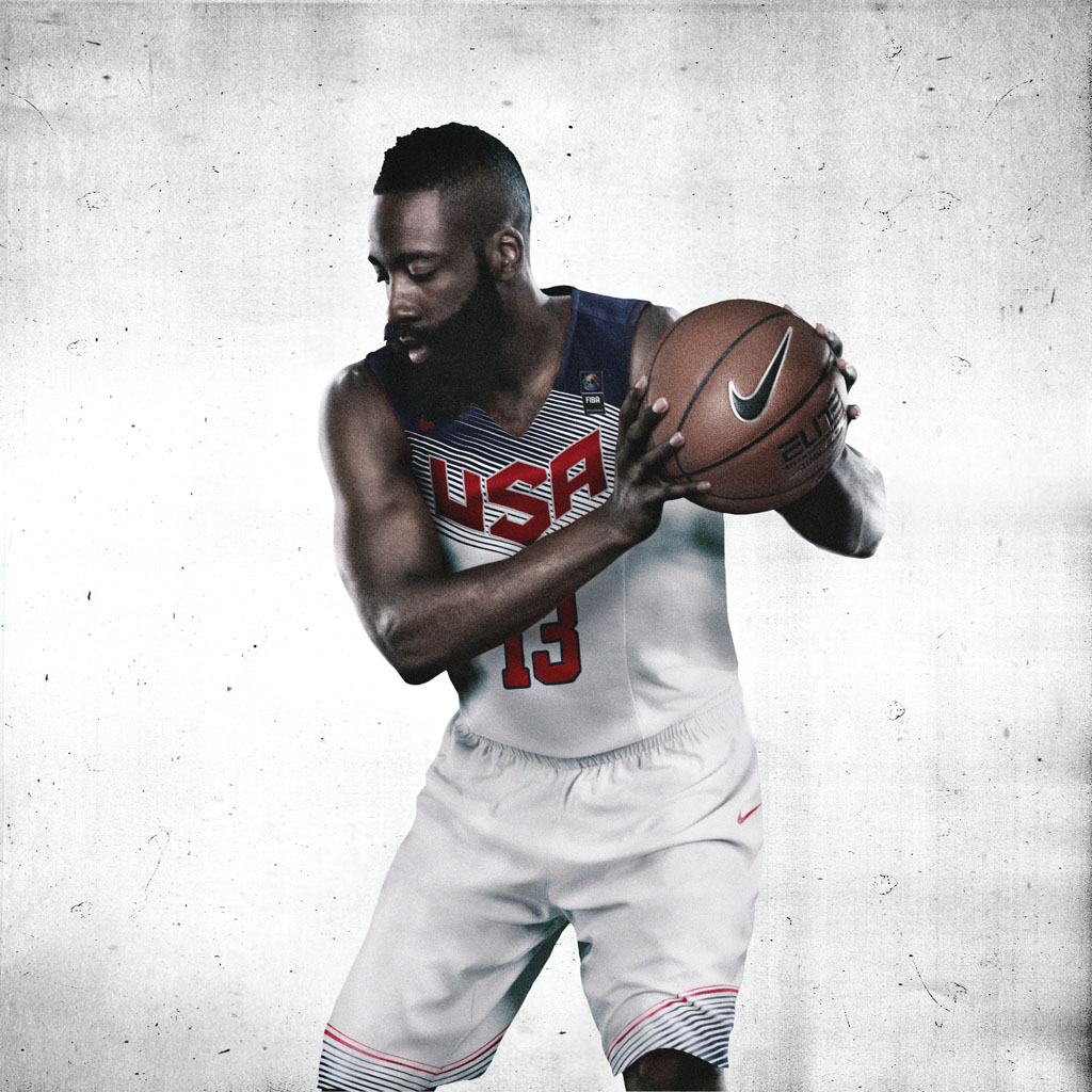 Nike Basketball Unveils 2014 USA Basketball Uniforms - James Harden (1)