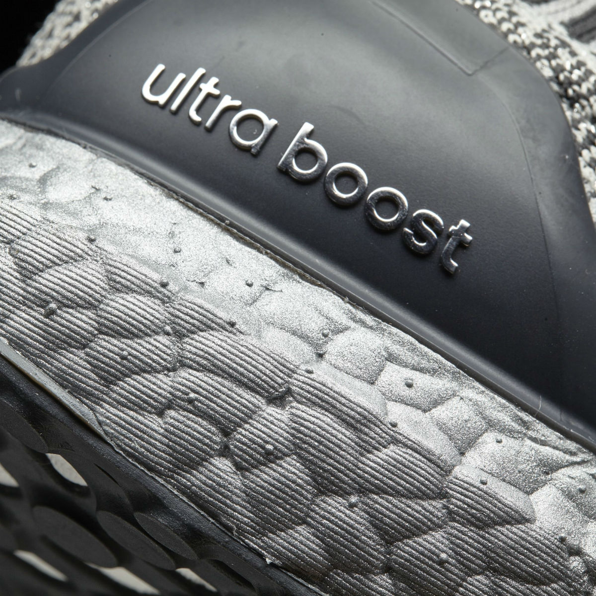 Adidas Ultra Boost Uncaged Metallic Silver Heel BA7997