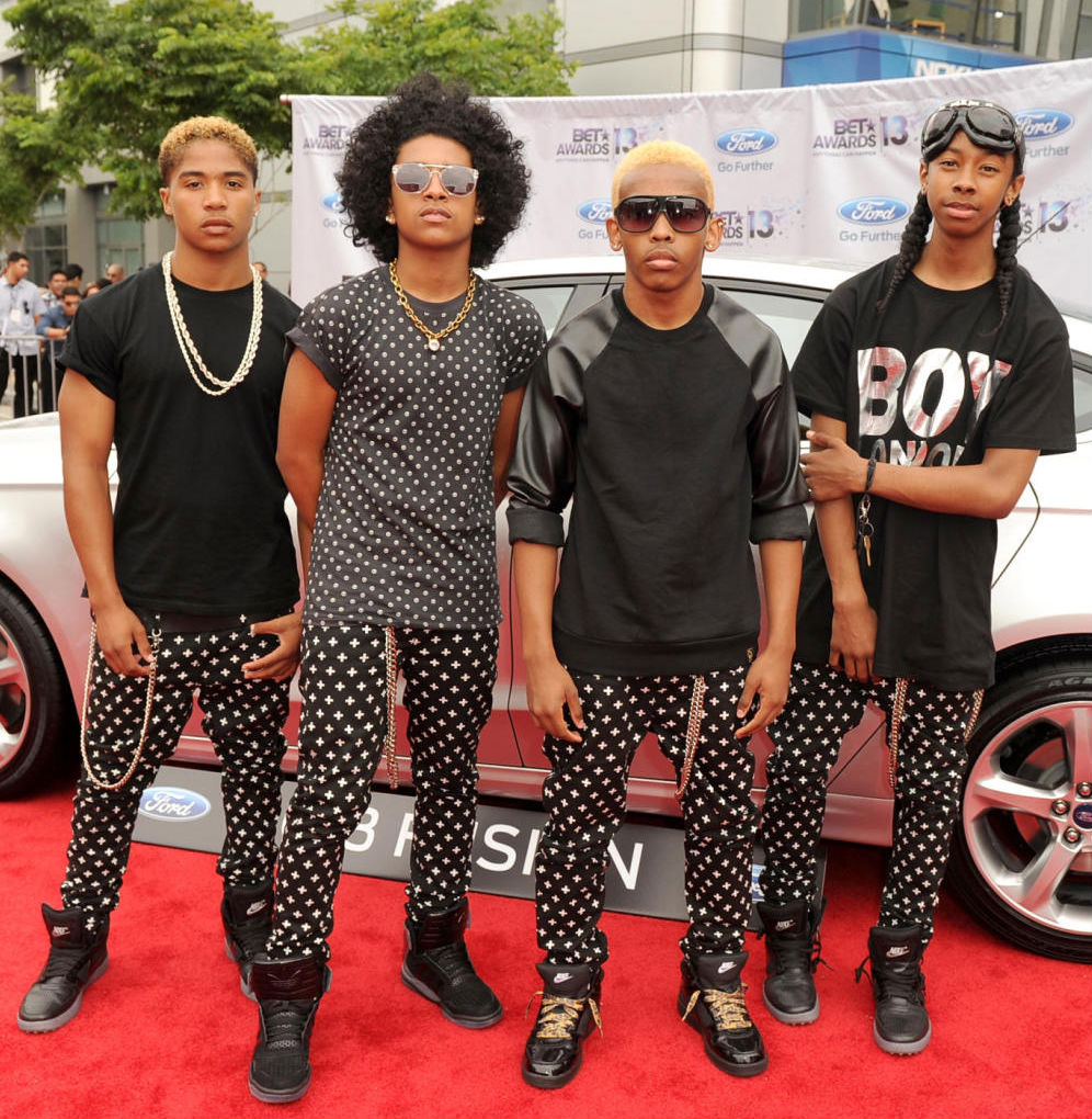 Mindless Behavior wearing Nike Trainer Clean Sweep, adidas Originals Tech Street Mid