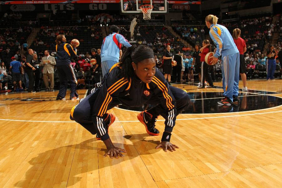 Tina Charles wearing the Nike Zoom Hyperdunk 2011