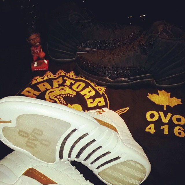 Amir Johnson Picks Up Air Jordan 12 OVO Pack