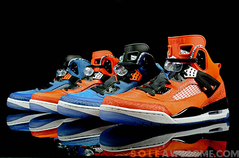 size 40 c9a9b f4a2d Jordan Spiz ike New York Knicks - Blue vs. Orange Comparison
