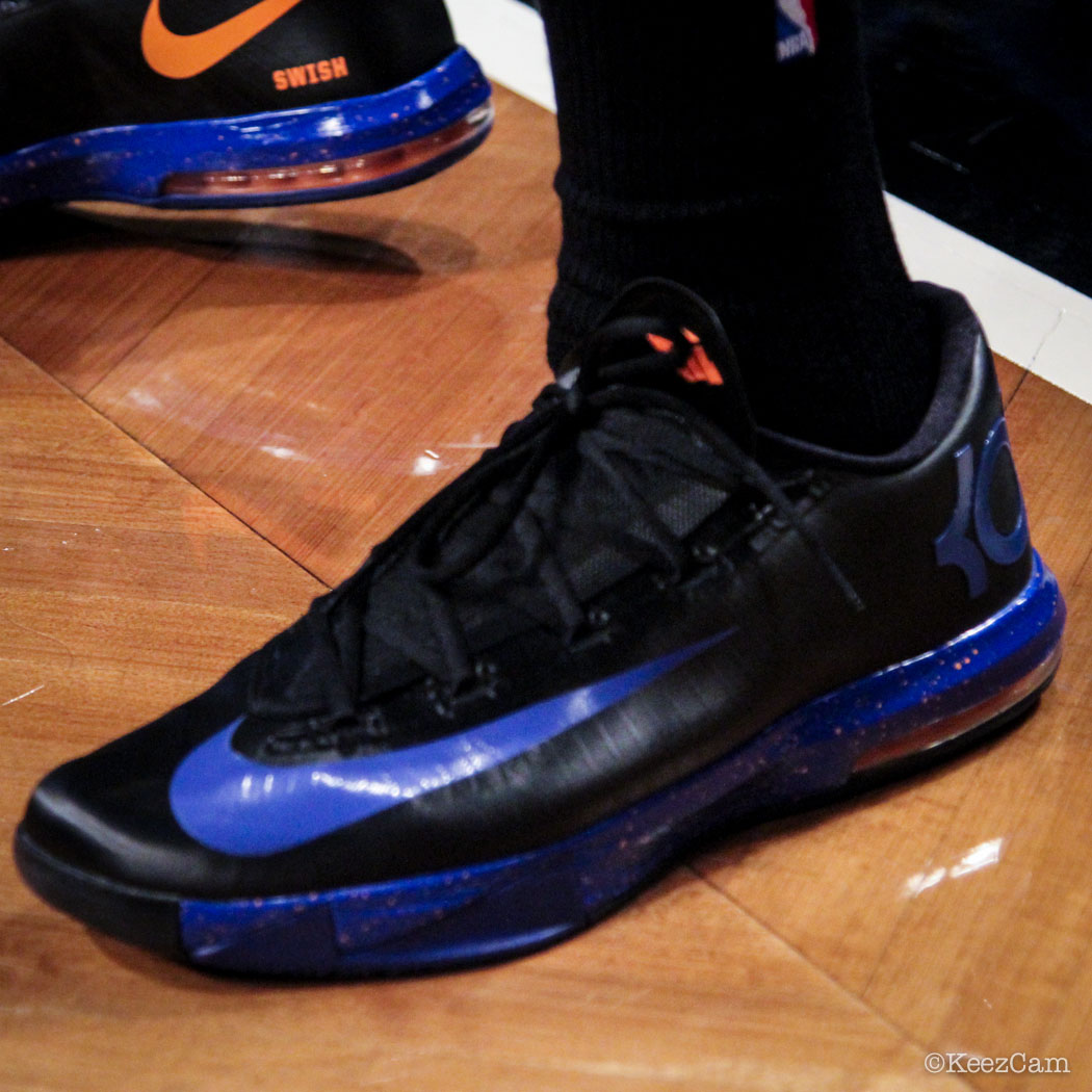 SoleWatch // Up Close At Barclays for Nets vs Knicks - JR Smith wearing Nike KD 6 iD
