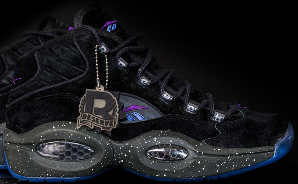 Reebok Question Mid Black/Purple-Royal Blue