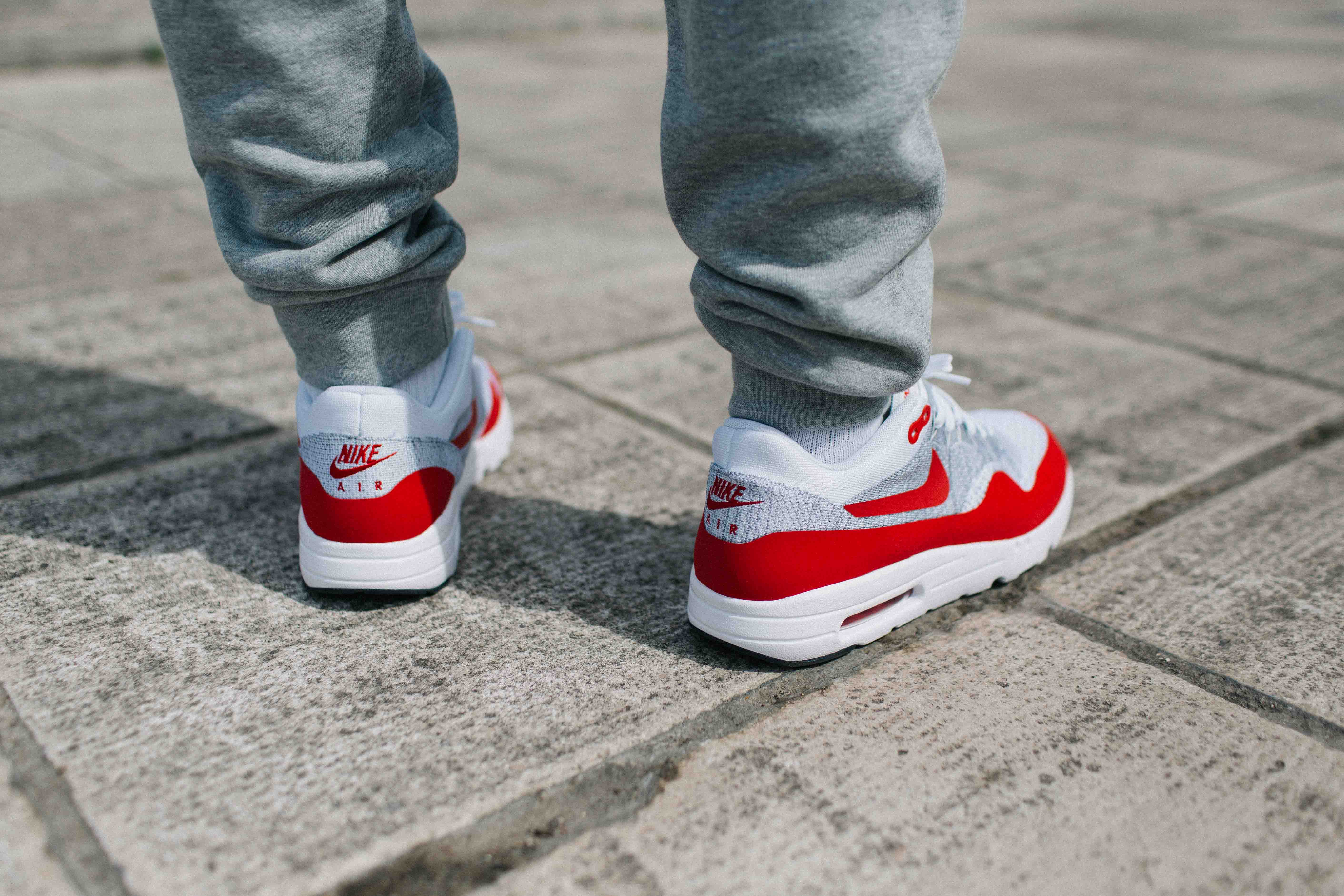 Air Max 1 Chaussures Pour Femmes Ultra Flyknit Porter Rouge
