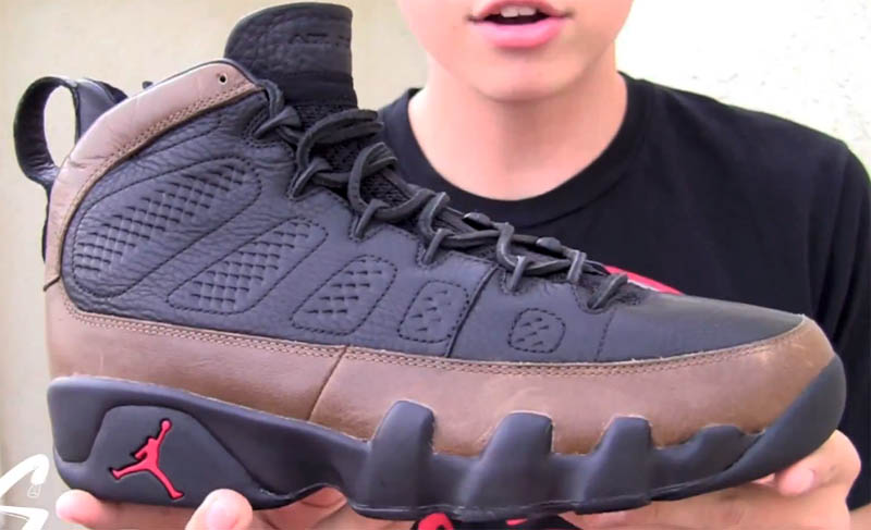 Air Jordan 9 Olive Leather Bin23 Premio Sample (2010) 0b96a929a