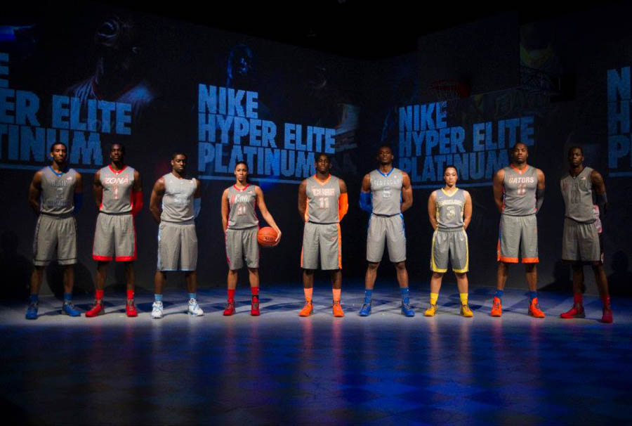 nike unveils hyper elite platinum basketball uniforms