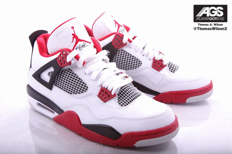 best sneakers 61903 c753e ... air jordan retro 4 red black white ...