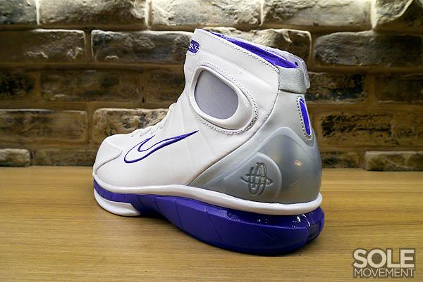 new products a6c16 f63c2 Nike Air Zoom Huarache 2K4 White Metallic Silver Pro Purple 511425-115 (8)