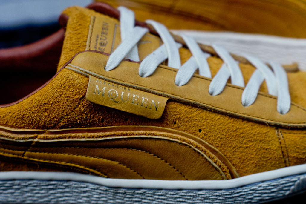 puma alexander mcqueen amq suede close up