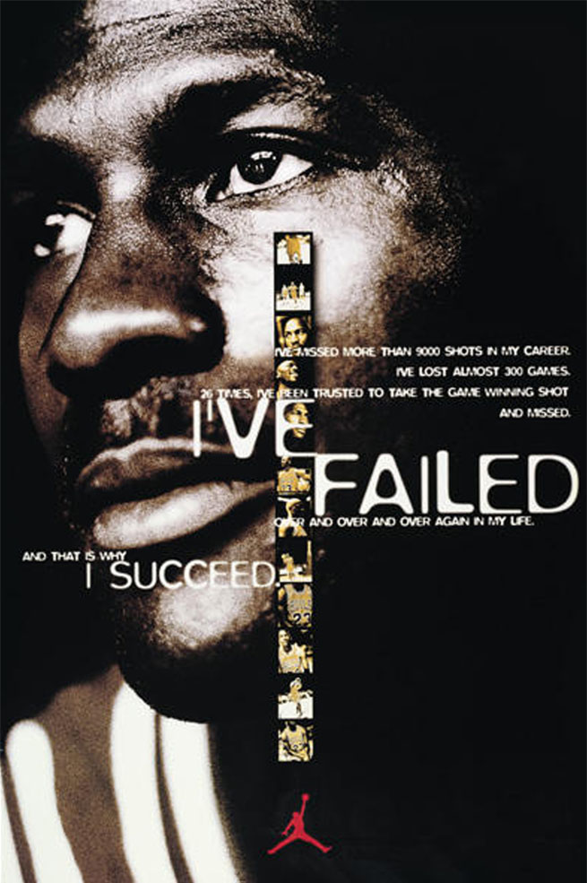 Michael Jordan 'I've Failed' Nike Air Jordan Poster (1993)