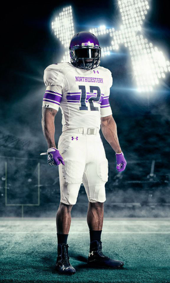 Under Armour Northwestern Football Uniforms Away (1)