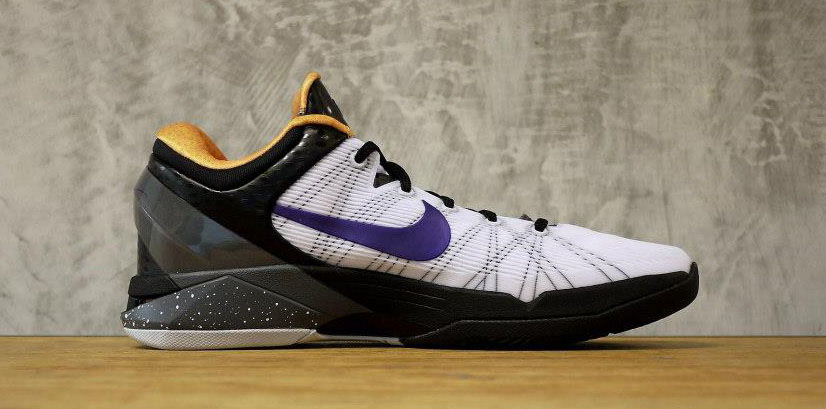3f70ac919115 Nike Zoom Kobe VII 7 White Black Gold Purple 488371-103 (3)