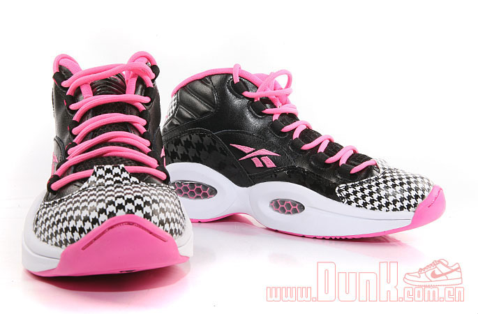 Reebok Question GS Black/Pink Houndstooth (3)