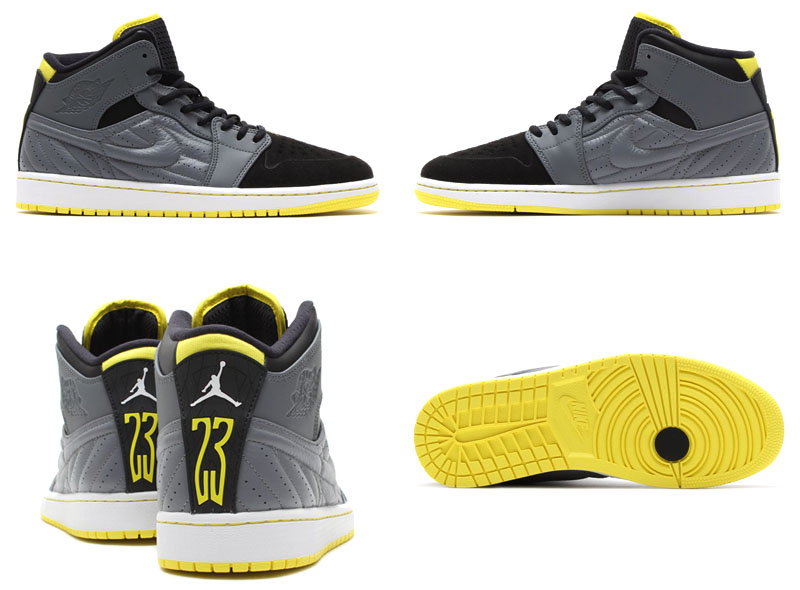 Air Jordan I 1 Retro '99 Cool Grey/Vibrant Yellow-Black-White 654140-032 (6)
