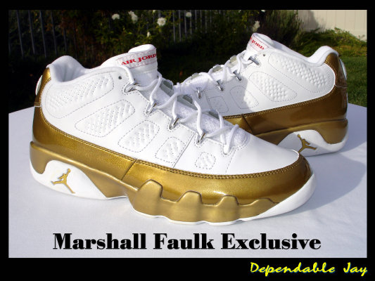 Marshall Faulk's Air Jordan 9 Rams PE