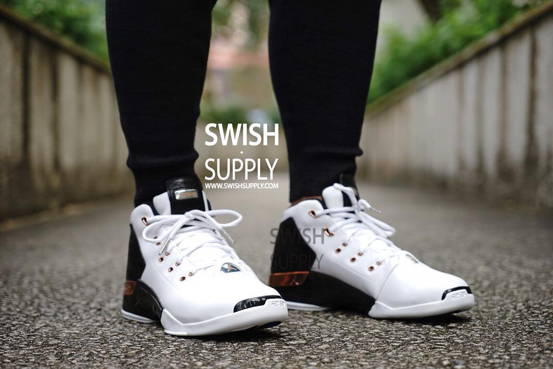 check out 0d14f 99f00 Air Jordan 17 Copper On-Foot 832816-122 (2)