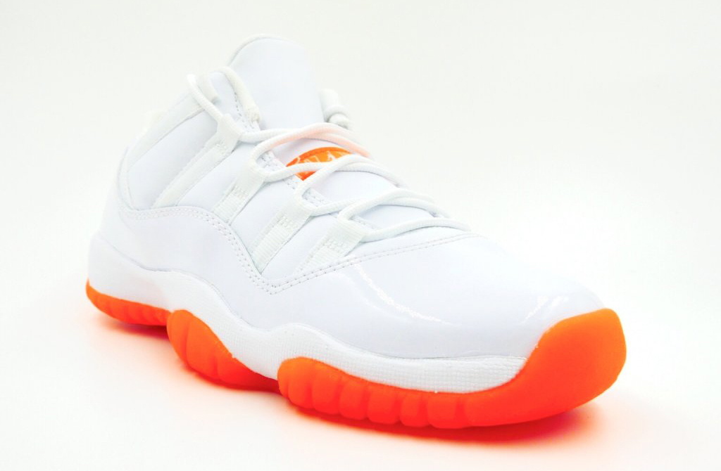 best sneakers c659a 03b5c See How the  Citrus  Air Jordan 11 Low Looks On-feet   Sole Collector