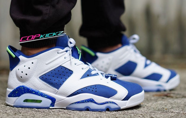 air jordan 6 blue and green