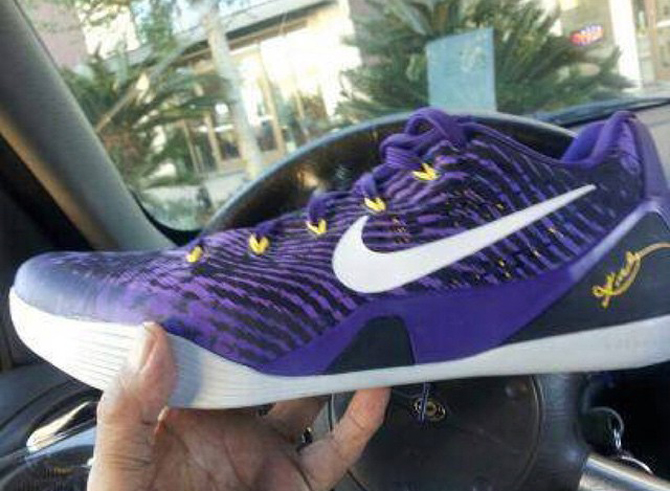 watch 499c9 e17ba The Most Lakers-Looking Nike Kobe 9 EM Yet | Sole Collector