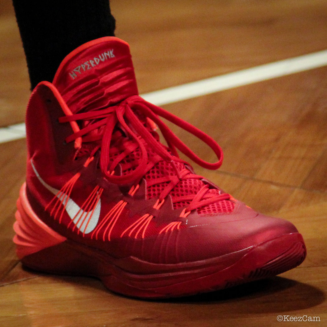 Francisco Garcia wearing Nike Hyperdunk 2013