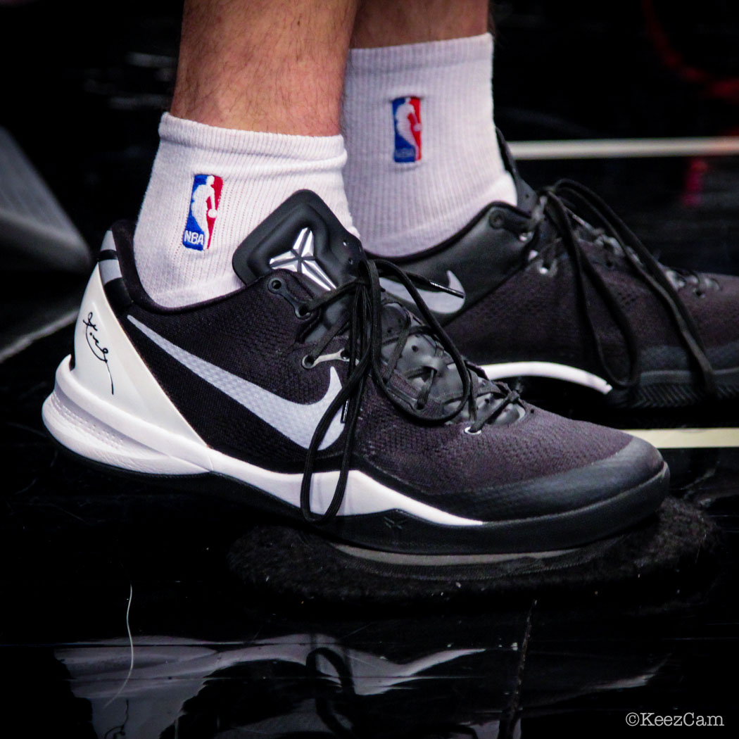 Sole Watch // Up Close At Barclays for Nets vs Cavs - Matthew Dellavedova wearing Nike Kobe 8