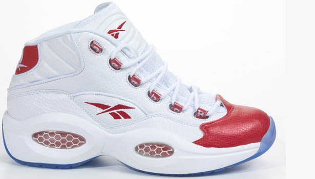 Reebok Question Mid White/Pearlized Red