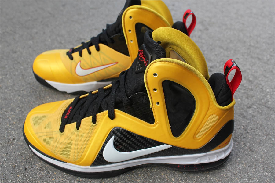 Nike LeBron 9 P.S. Elite Taxi Maize Black White Sport Red 516958-700 (2)