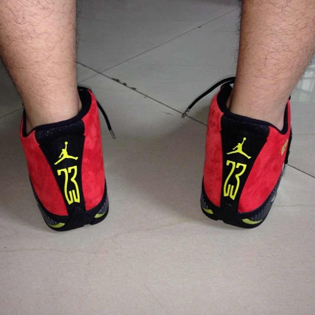 Air Jordan 14 XIV Red Suede (12)