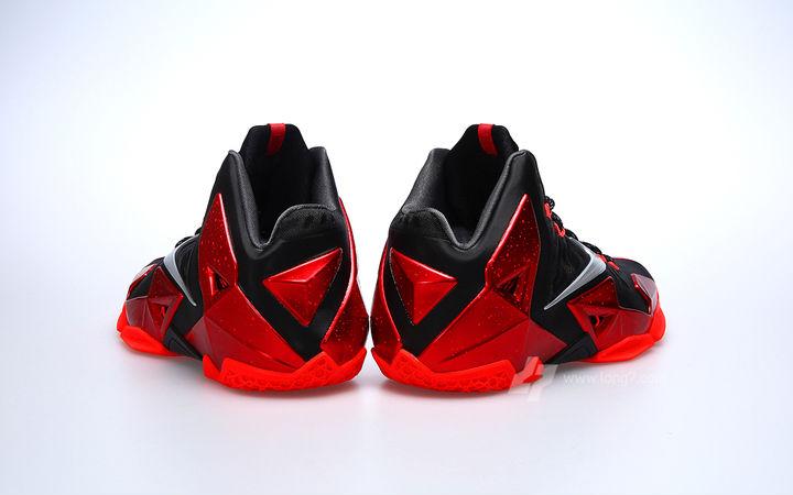 388ce382e028 Nike LeBron XI Black Red Miami Heat Release Date 616175-001 (6)