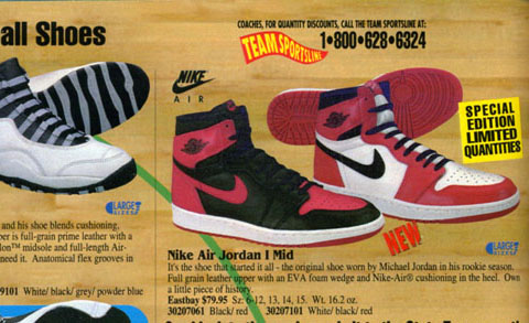 Air Jordan 1 in Eastbay Catalog 1995