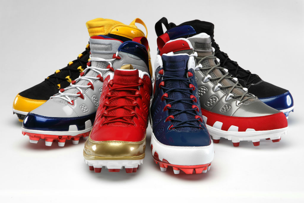 Air Jordan Retro IX 9 Cleats for Team Jordan