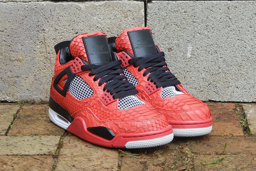 "Air Jordan IV 4 Retro ""Red Python"" by JBF Customs (7)"