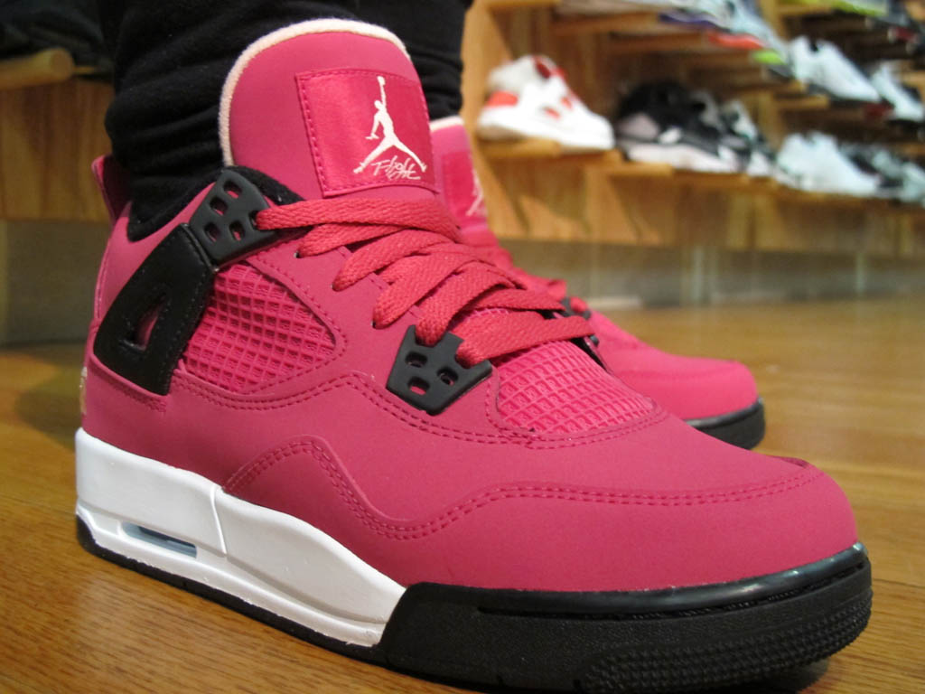 Air Jordan Retro 4 IV GS Voltage Cherry White Black New 487724-601 (3)