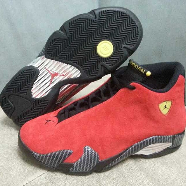 Air Jordan 14 XIV Red Suede (6)