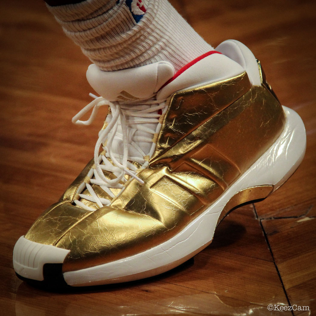 Reggie Evans wearing adidas Crazy 1 Awards Season