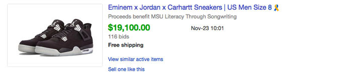 hot sale online 12521 423ab Here's How Much Every Eminem x Carhartt x Air Jordan 4 Sold ...