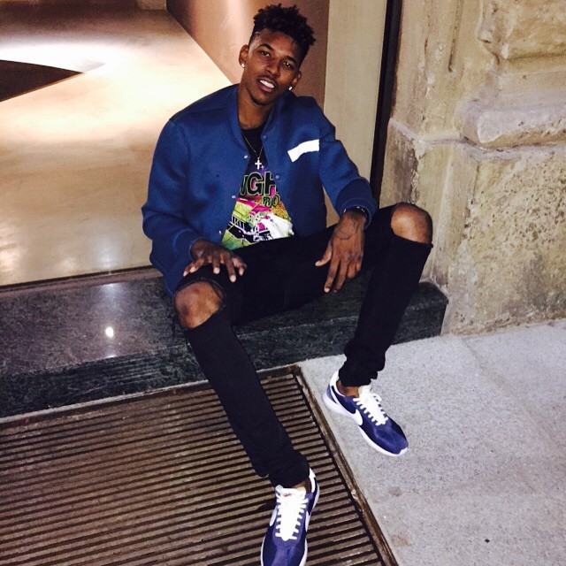 Nick Young wearing Nike Roshe Run LD-1000