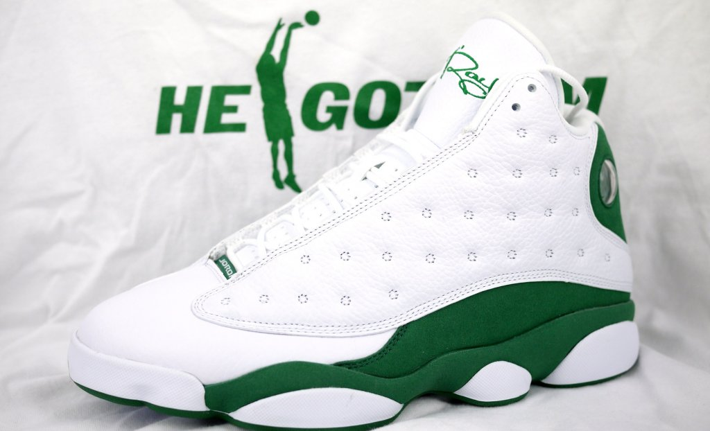 261f8dbf7e1b2f ... where to buy air jordan retro 13 ray allen white clover 414571 125  d185e b9f70