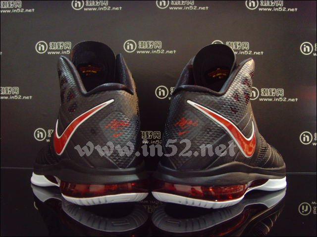 Nike Air Max LeBron 8 P.S. Black Red White 441946-001