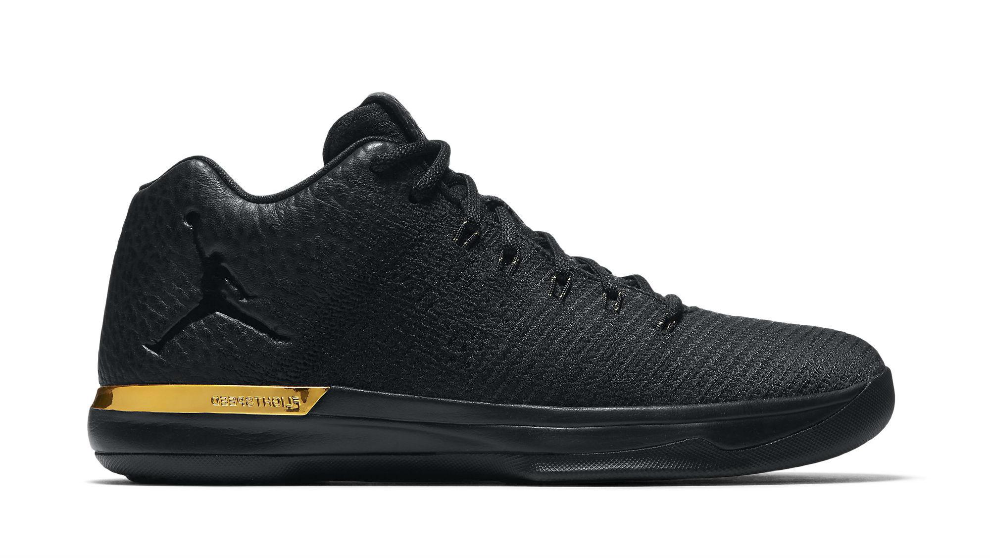 Air Jordan XXX1 Low Black/Anthracite-Metallic Gold